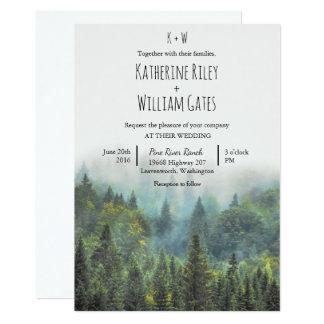 Invitación rústica del boda del bosque