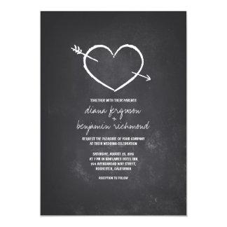 Invitación rústica del boda del corazón del amor