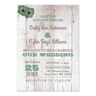 Invitación rústica del boda del trullo de la