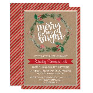 Invitación rústica del día de fiesta del navidad