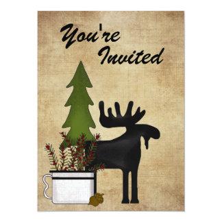 Invitación rústica del fiesta de la reunión de