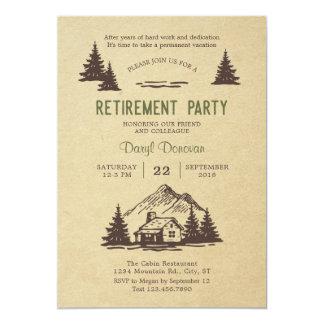 Invitación rústica del fiesta de retiro de la