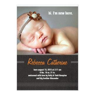 Invitación rústica del nacimiento de la Dos-Foto