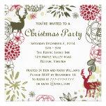 Invitación rústica floral de la fiesta de Navidad