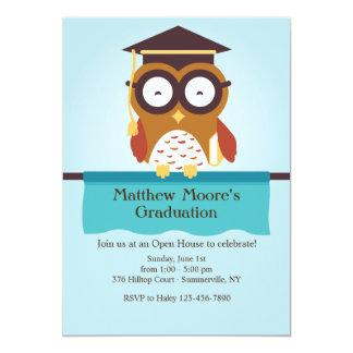 Invitación sabia de la graduación del búho