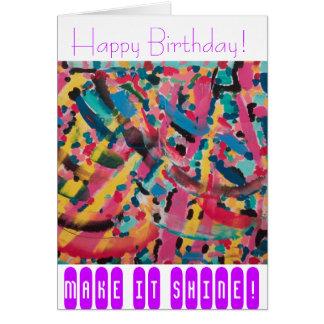 Invitación-Saludos del cumpleaños, sensaciones art Tarjeta De Felicitación