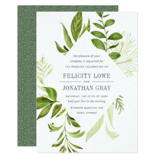Invitación salvaje del boda del prado invitación 12,7 x 17,8 cm