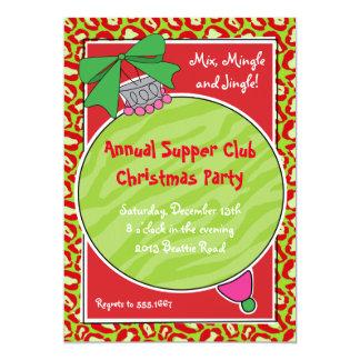 Invitación salvaje del ornamento del navidad del