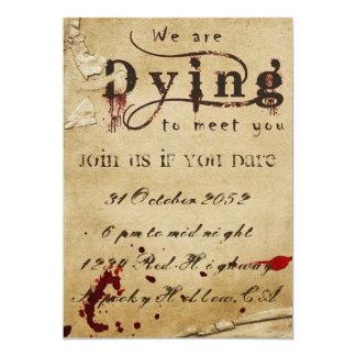 Invitación sangrienta de Halloween