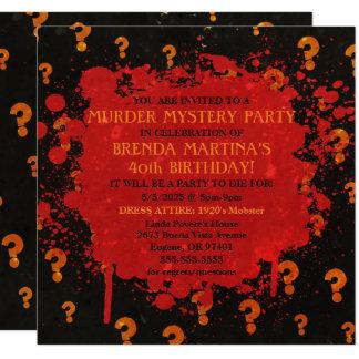 Invitación sangrienta del fiesta del misterioso