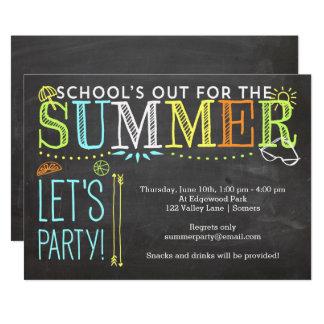 Invitación-School del fiesta del verano hacia Invitación 12,7 X 17,8 Cm