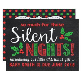 Invitación silenciosa del embarazo de las noches
