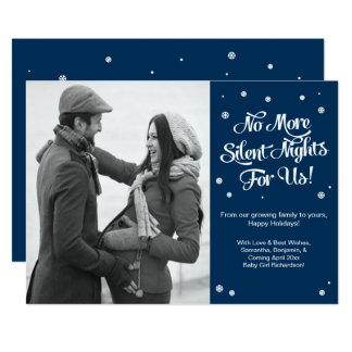 Tarjeta Invitación silenciosa del navidad del embarazo de