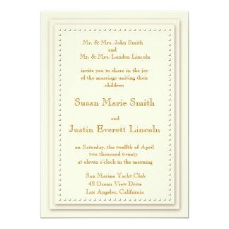 Invitación simple de la crema 5x7 de la elegancia