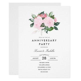 Invitación simple de la fiesta de aniversario de