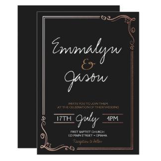 Invitación simple del boda