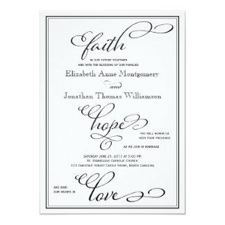 Invitación simple del boda de la escritura del