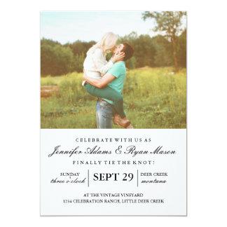 Invitación simple del boda de la foto