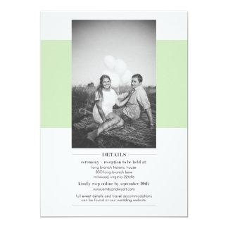 Invitación simple del boda de la verde salvia con
