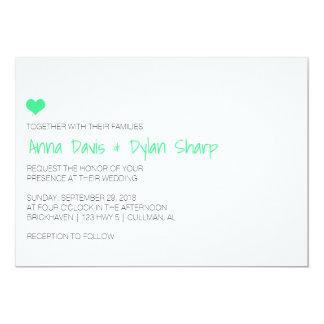 Invitación simple del boda de MintHeart