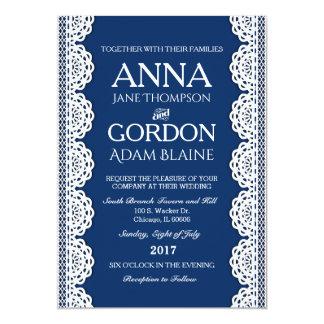 Invitación simple del boda del cordón