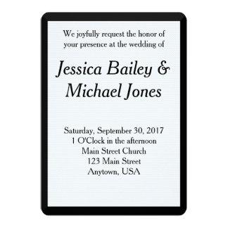 Invitación simple del boda del fondo de Chevron