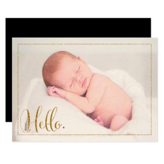 Invitación simple del nacimiento de la foto de la