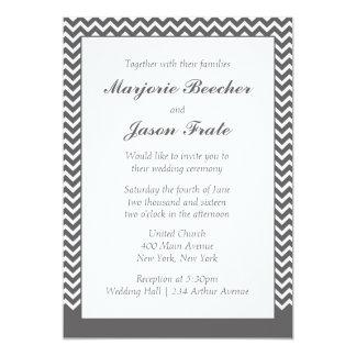 Invitación simple moderna del boda de Chevron -