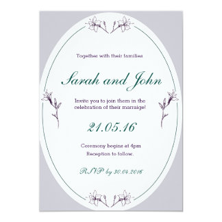 Invitación simple y elegante del boda