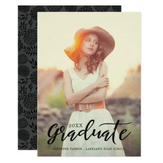 Invitación simplemente elegante de la graduación invitación 12,7 x 17,8 cm