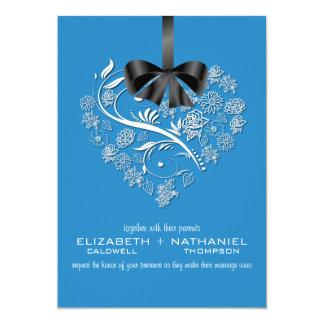 Invitación sin aliento del boda--azul de océano
