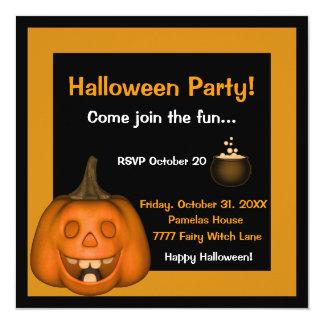 Invitación sonriente de Halloween Jack