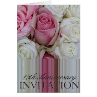 invitación subió décimo quinto aniversario tarjeta de felicitación