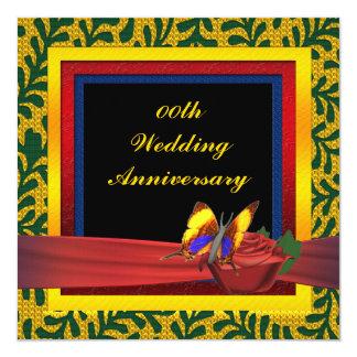 Invitación subió mariposa del aniversario de boda