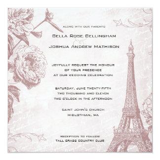 Invitación subió vintage del boda de la torre