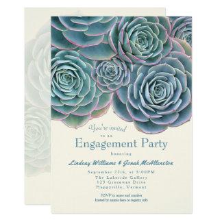 Invitación suculenta del fiesta de compromiso del
