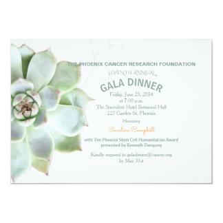 Invitación suculenta elegante de la cena de gala