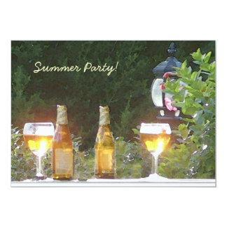 Invitación Sunlit del fiesta de la cerveza Invitación 12,7 X 17,8 Cm