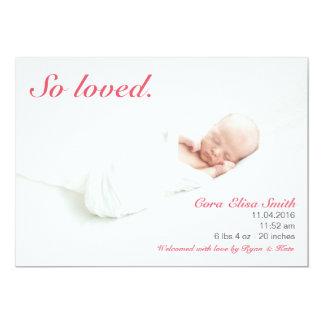 Invitación tan amada del nacimiento
