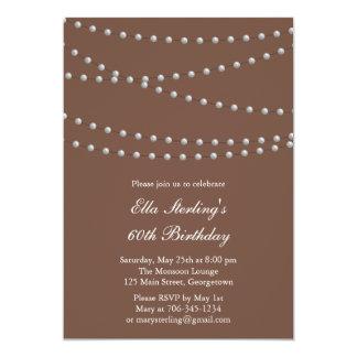 Invitación tan elegante del cumpleaños de las