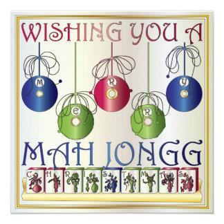Invitación/tarjeta de los apostantes del navidad invitación 13,3 cm x 13,3cm