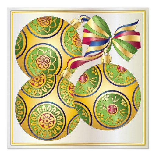 Invitación/tarjeta de los ornamentos del navidad d