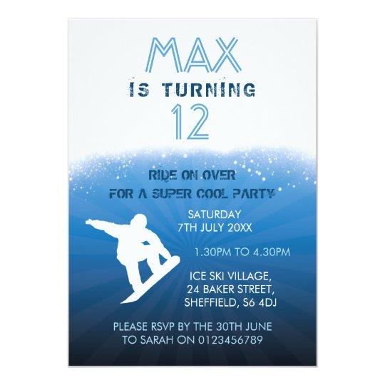 Invitación temática de la fiesta de cumpleaños de