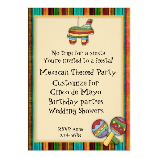 Invitación temática de la fiesta mexicana