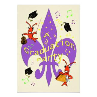 Invitación temática de la graduación de Cajun