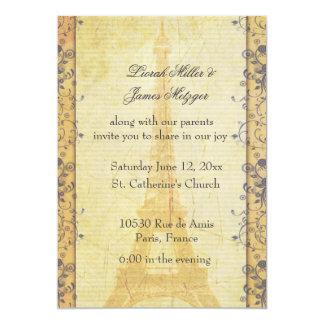 Invitación temática del boda de París