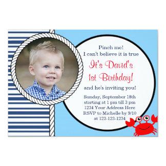 Invitación temática del cumpleaños del océano