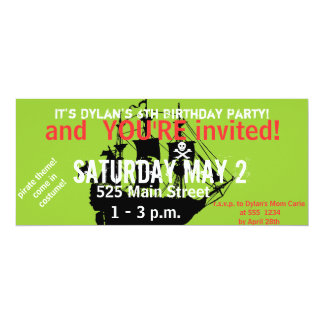 Invitación temática del cumpleaños del pirata