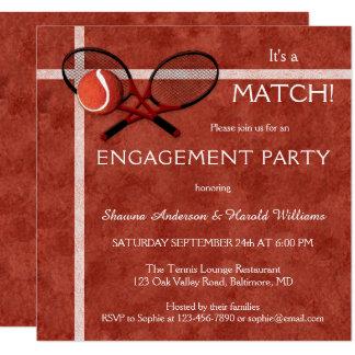 Invitación temática del fiesta de compromiso del