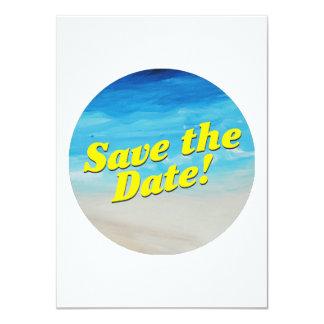 Invitación temática del fiesta de la playa